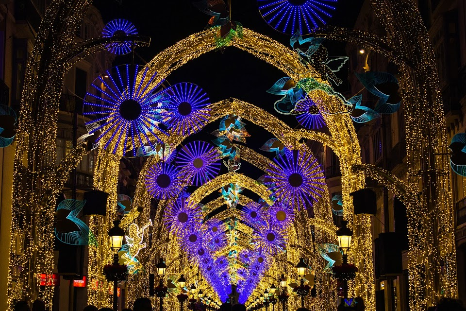 Malaga center decorations for Christmas and New year