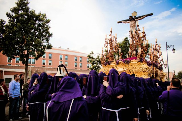 Procession in Malaga during Holy Week