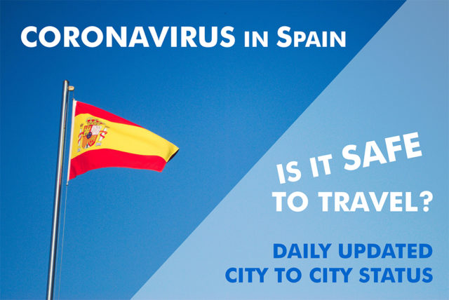 Daily updated city to city status of COVID-19 in Spain