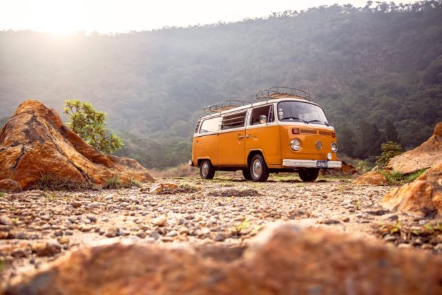 classic van in a road trip around Spain for 2 weeks