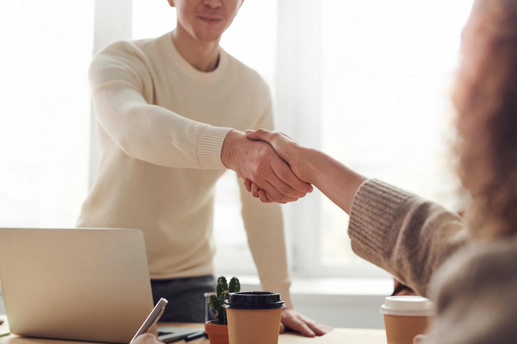 Handshaking and introducing yourself