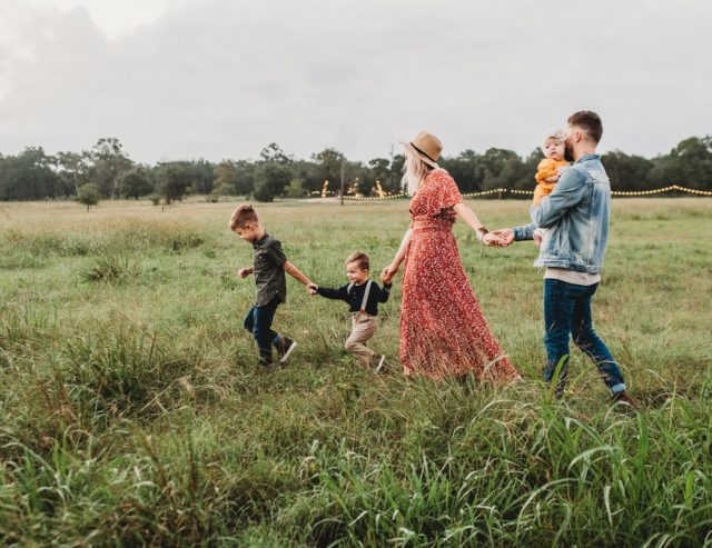 family going on a rural holiday in Spain after Coronavirus