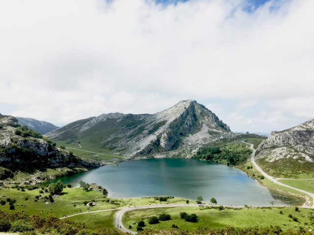 view of Covadonga lakes (Asturias) in our 2 weeks northern spain roadtrip itinerary
