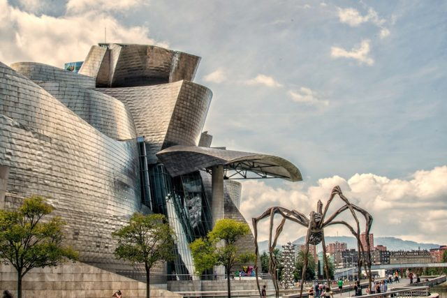 view of Guggenheim museum Bilbao (Basque Country) during our 15 days northern spain roadtrip itinerary