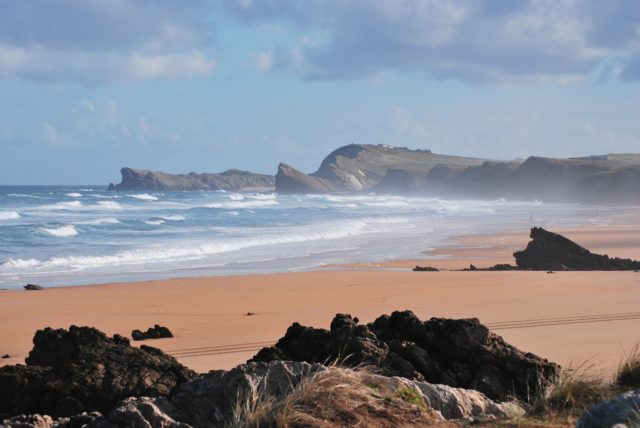 view of Liencres beach (Cantabria) in our 2 weeks northern spain roadtrip itinerary