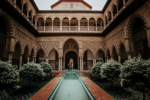 seville alcazar courtyard during Oh My Good Guide tours