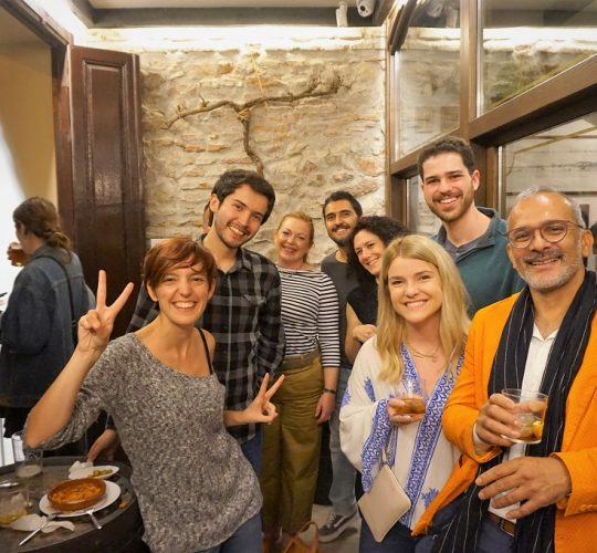 People taking picture after the wine and tapas tour