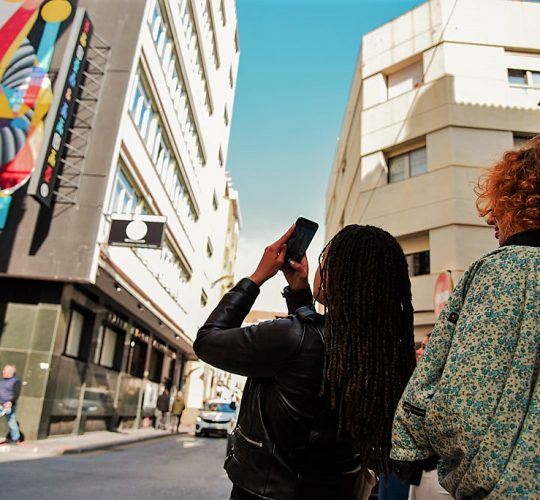 Taking picture of Malaga art
