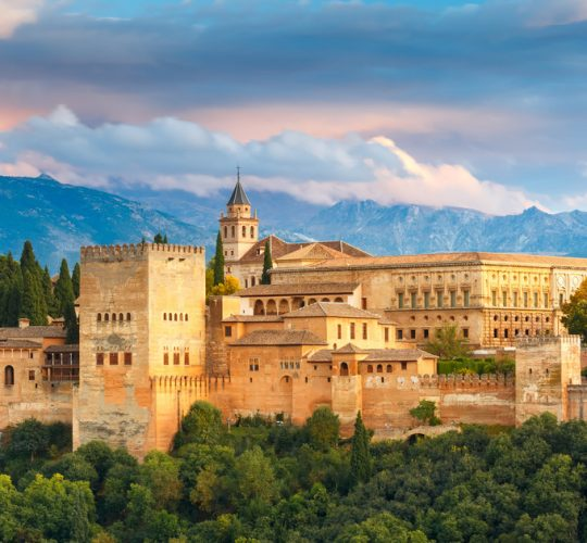 The Alhambra palace of Granada