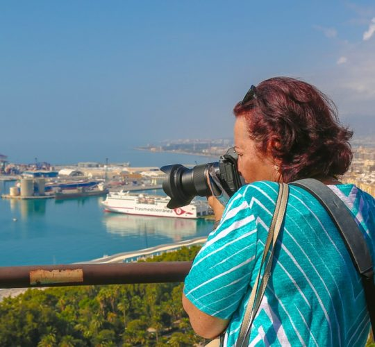 Woman taking picture of the beautiful view