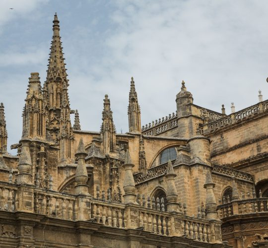 Seville and picture of the monument