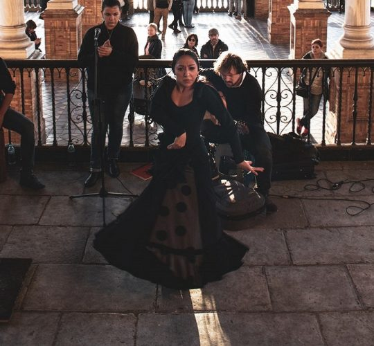 Woman dancing flamenco in Granada